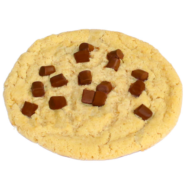 Amerikanischer Cookie hell mit dunklen Schokoladenstückchen