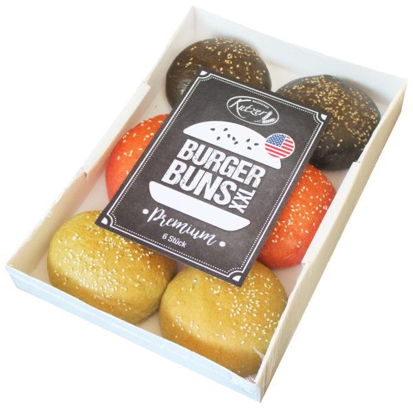 Hamburger Buns Gemischt im 6er-Pack